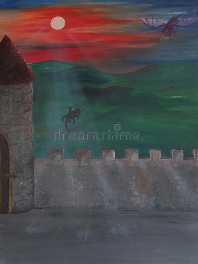 Dragoncastle arkivbild