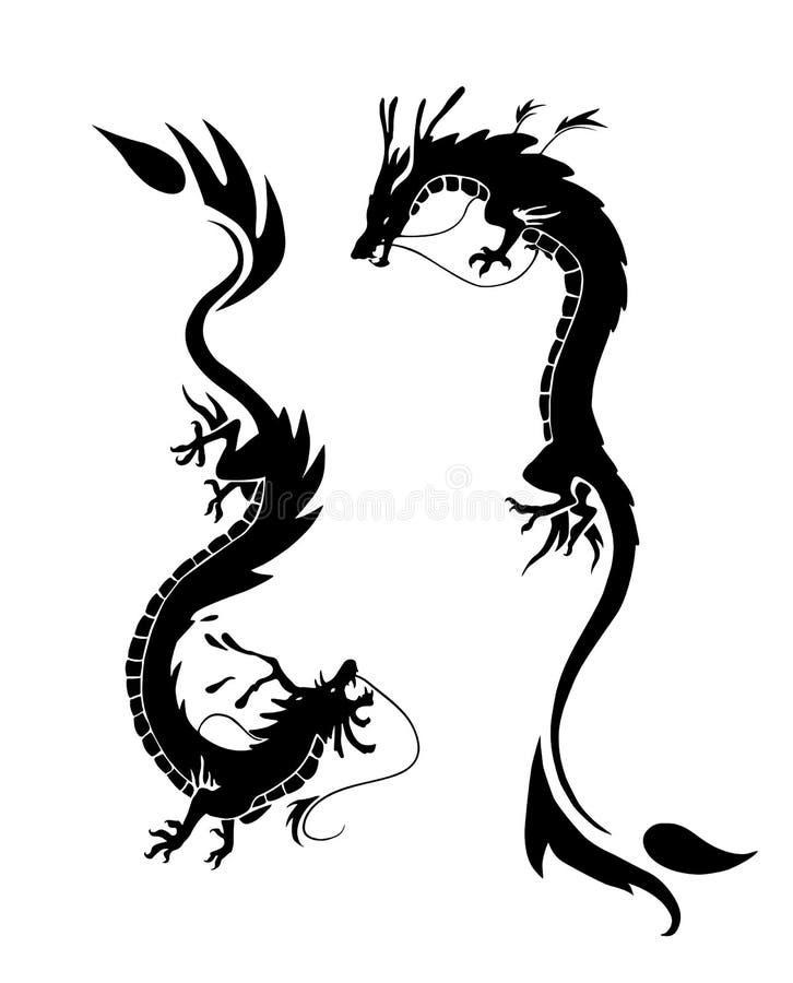 dragones stock de ilustración