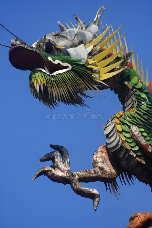 Download Dragones En La Azotea Del Templo Foto de archivo - Imagen de popular, azul: 7151392