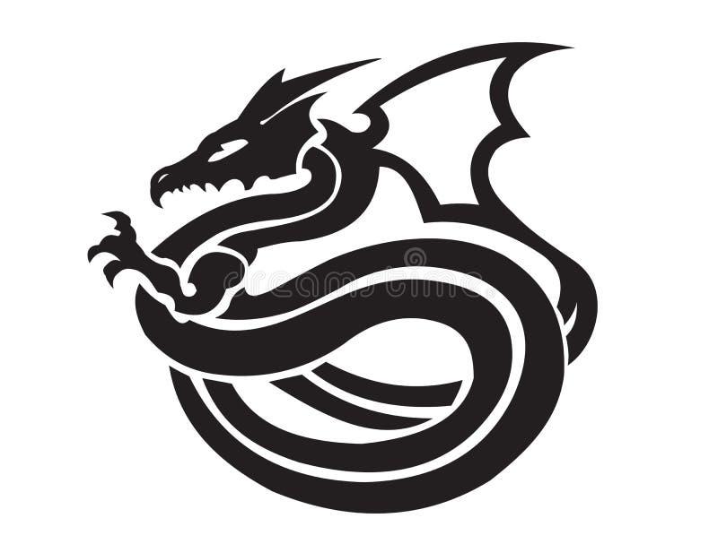 Dragones que plantean el ejemplo ilustración del vector