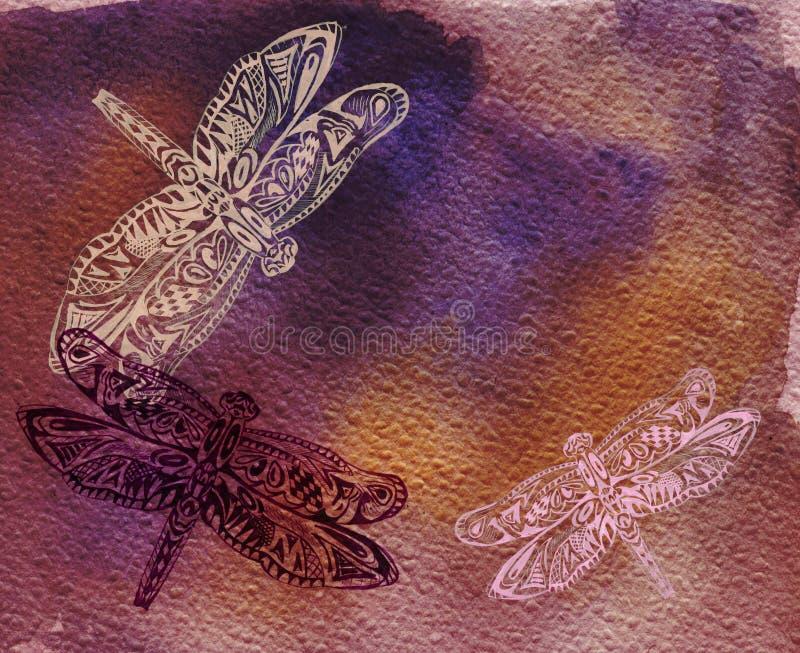 dragonflies royalty ilustracja