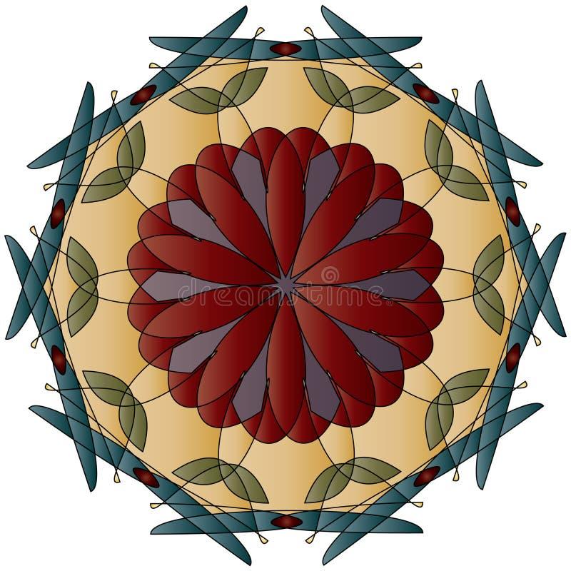 dragonflies abstrakcjonistyczny medalion royalty ilustracja