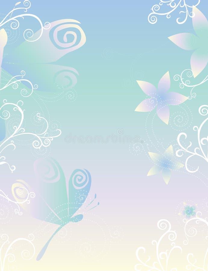 Download Dragonflies & Flowers Paper Stock Vector - Image: 1467117