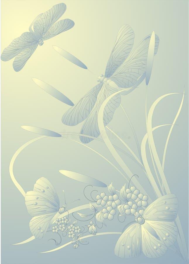 dragonflies motyla ilustracja wektor