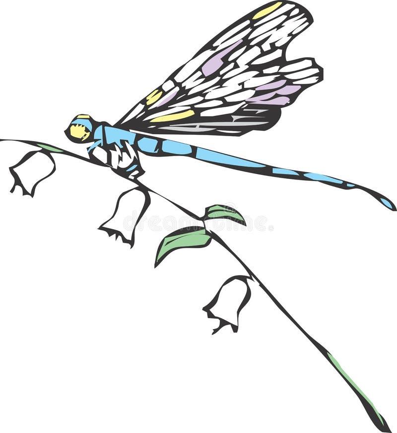 dragonfly одно иллюстрация штока