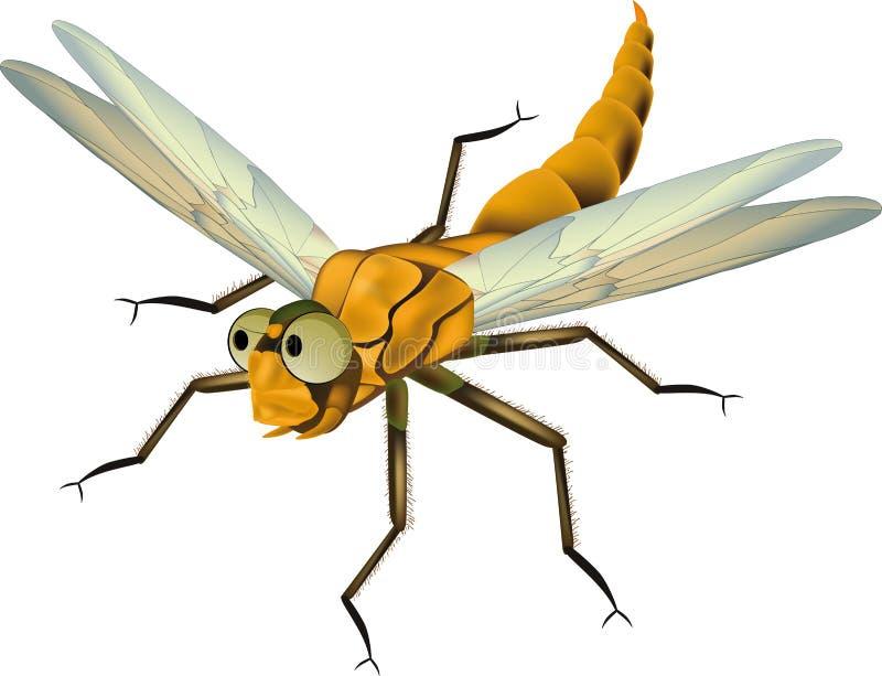 Dragonfly от сказки иллюстрация вектора