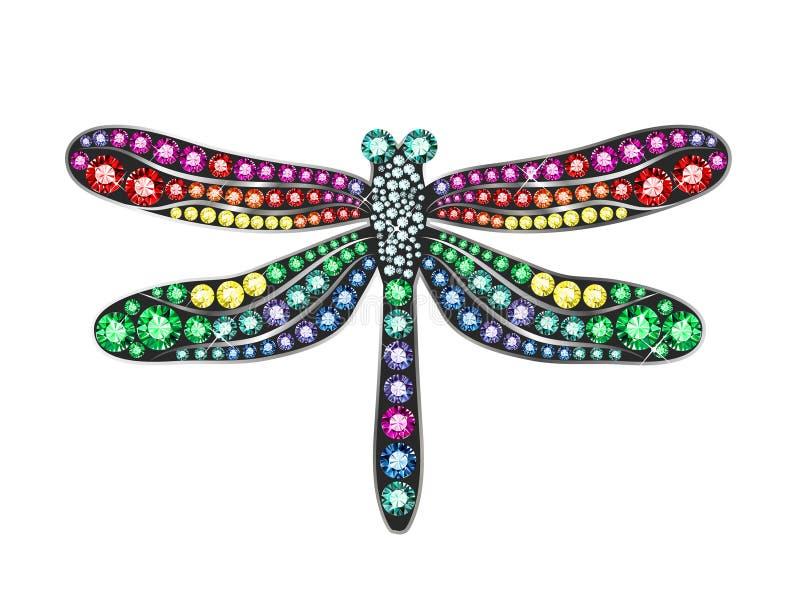 Dragonfly самоцвета иллюстрация штока