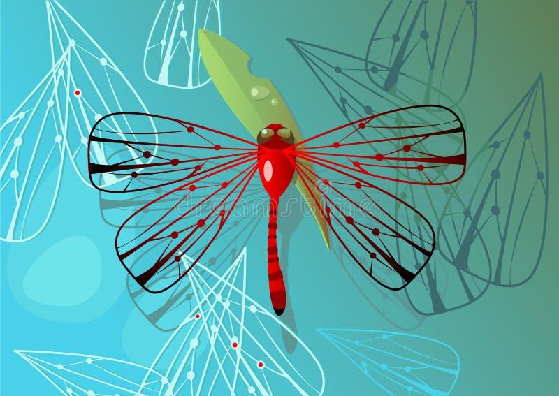Dragonfly royalty free illustration