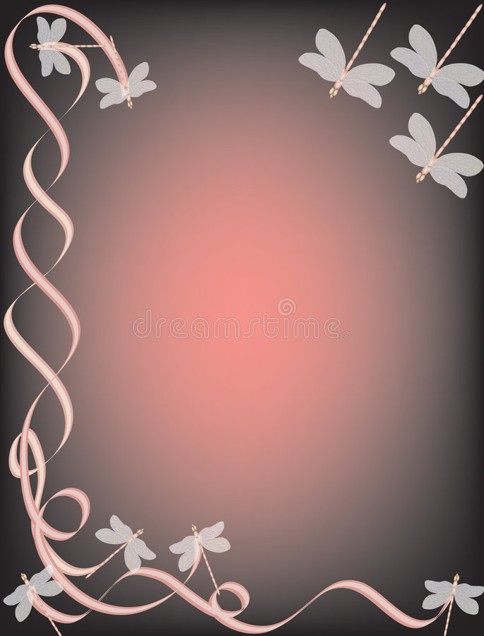 Dragonfly Border vector illustration