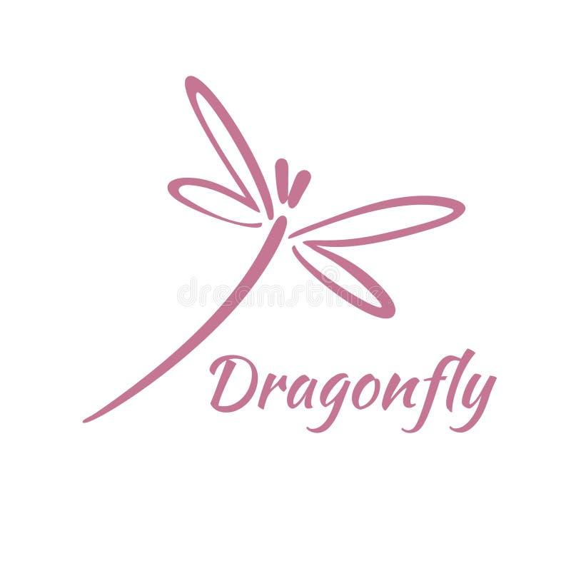 Dragonfly loga projekta szablon również zwrócić corel ilustracji wektora ilustracja wektor