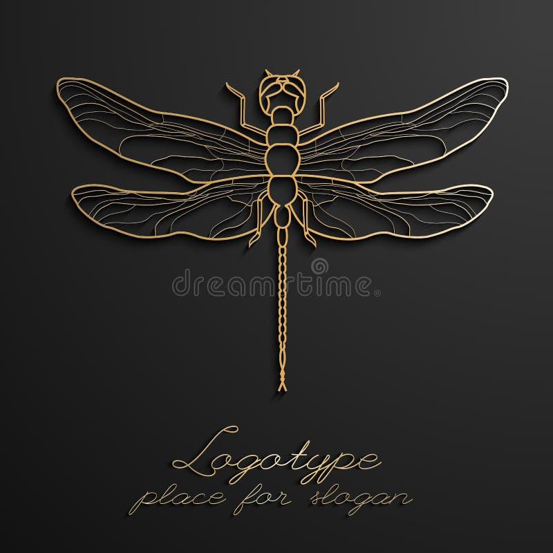 Dragonfly loga projekta wektorowa ilustracja eps10 Projektantów kreatywnie logowie ilustracji