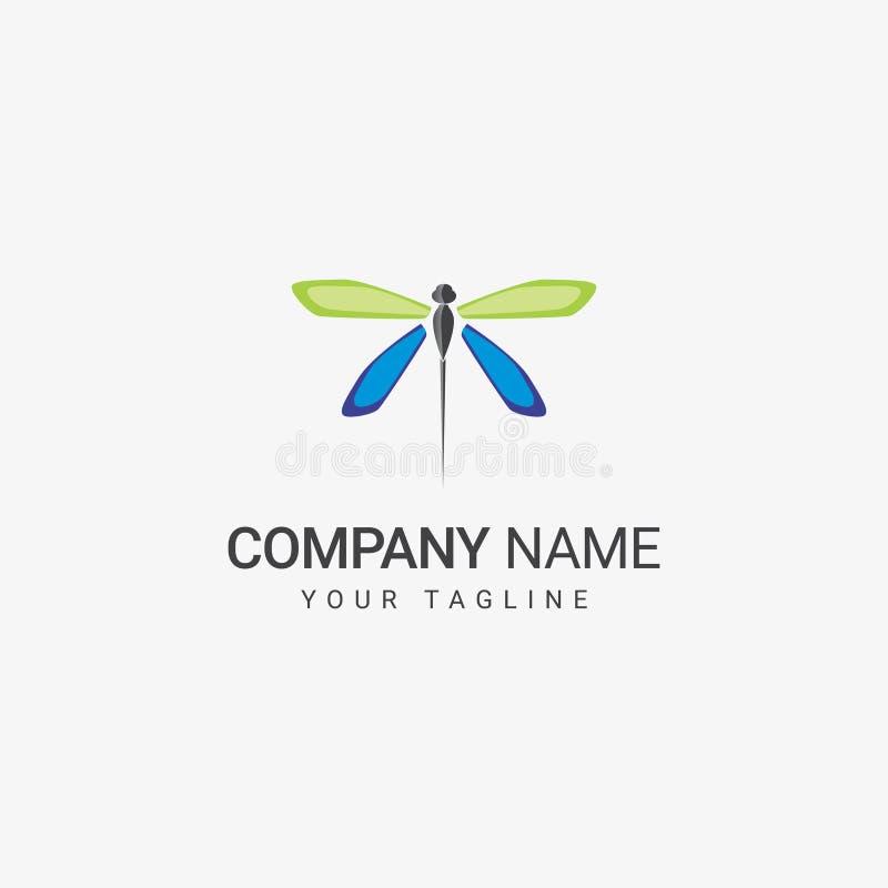 Dragonfly loga szablon ilustracja wektor
