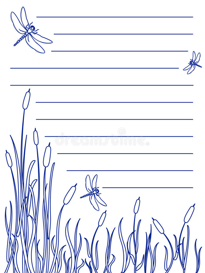 Dragonfly notepad