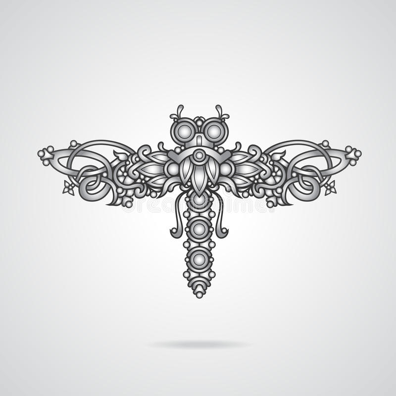 Dragonfly ornament ilustracja wektor
