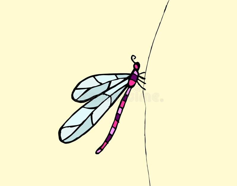 Dragonfly pattern vector royalty free illustration