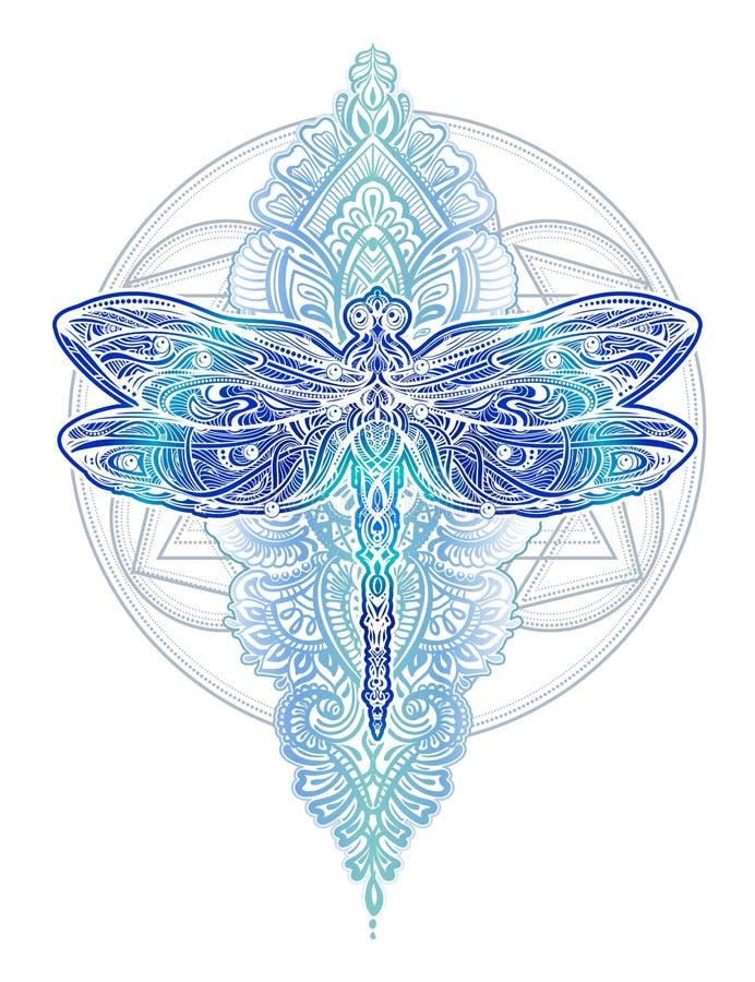 Free Dragonfly Vector Tattoo Stock Photo - 103438630