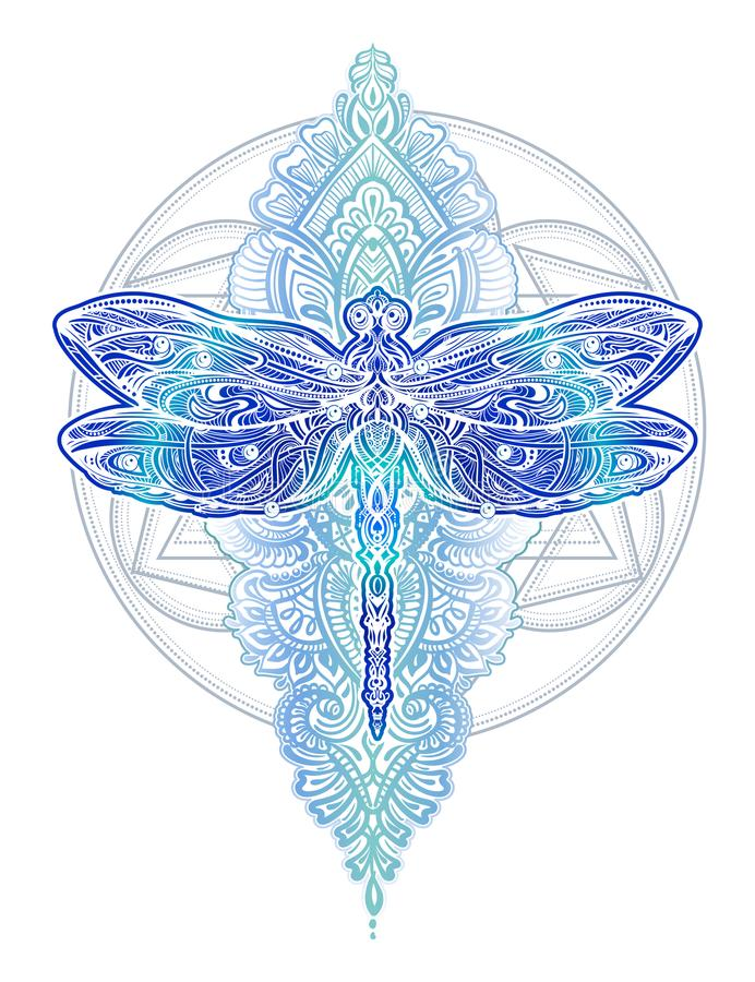 Dragonfly vector tattoo stock illustration