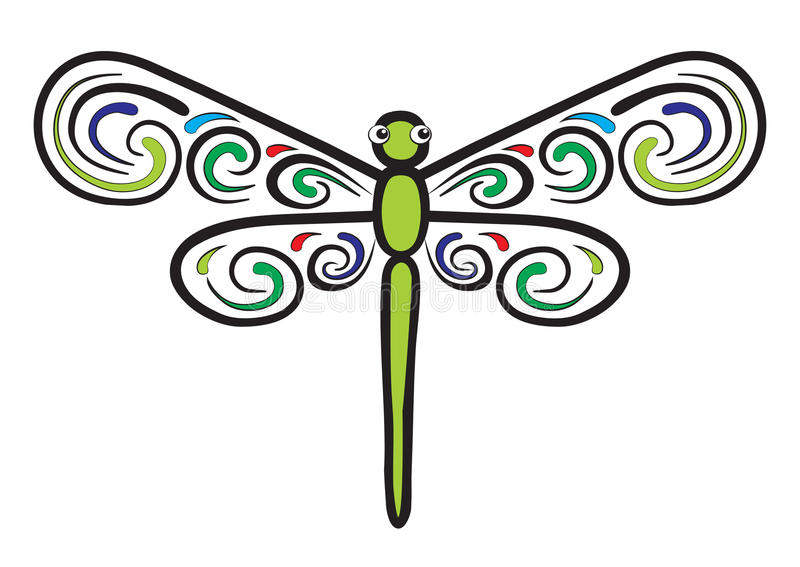 Download Dragonfly Which Have Beautiful Wings Stock Vector - Image: 25726744