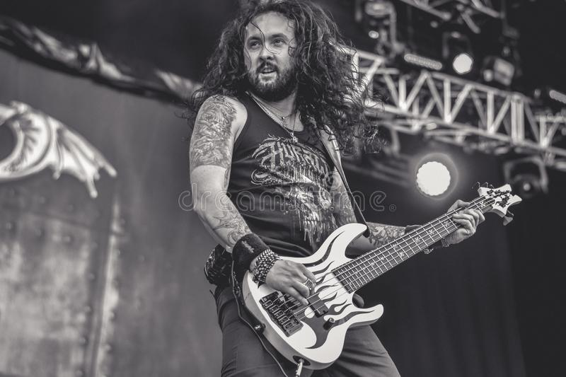 Dragonforce live in Hellfest 2016, heavy power metal band. DragonForce are a British power metal band based in London, England. Formed in 1999, the group are stock image