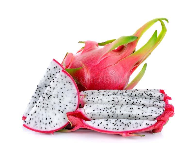 Dragonfruit изолировало на белой предпосылке стоковая фотография