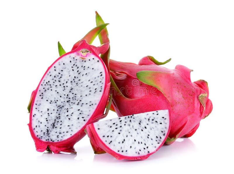 Dragonfruit изолировало на белой предпосылке стоковые изображения rf