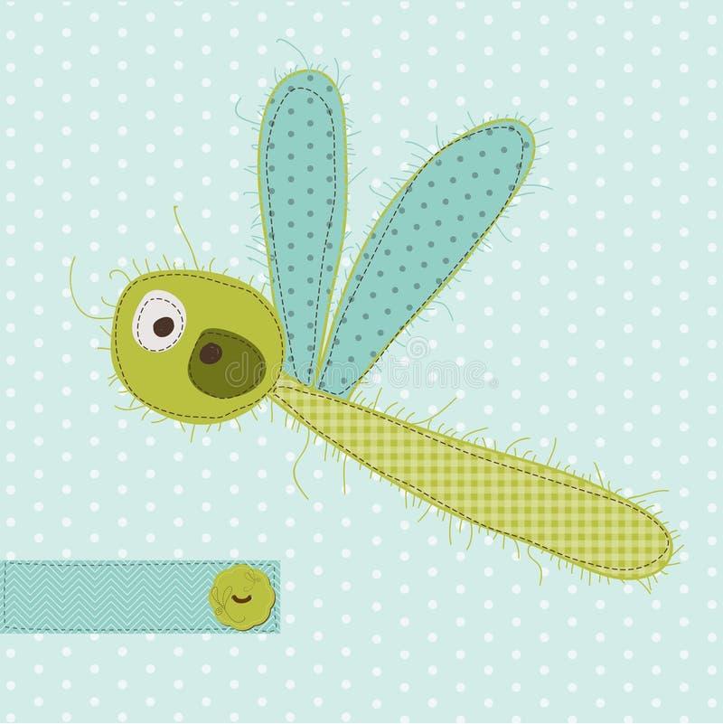 dragonfy χαιρετισμός καρτών απεικόνιση αποθεμάτων