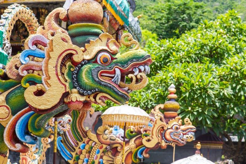 Dragons bali. Beautiful dragons at the temple bali stock images