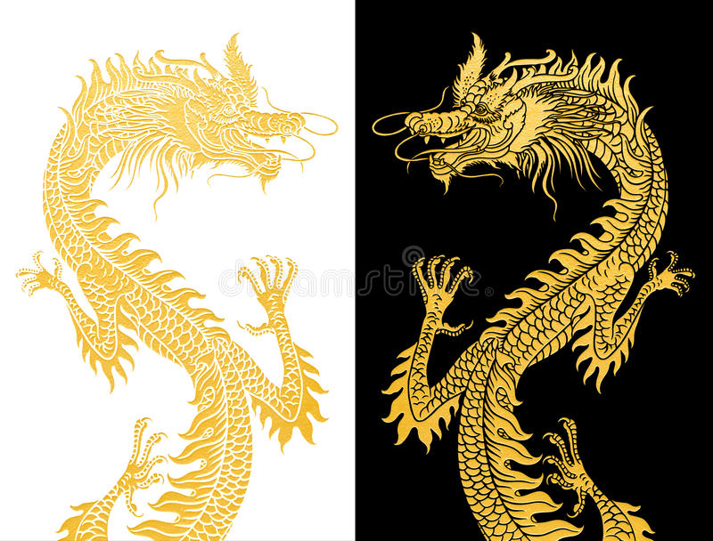 Download Dragons On Black And White. Stock Illustration - Illustration: 28044122