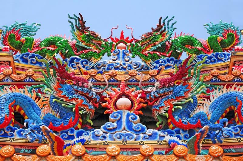 Dragons chinois images libres de droits