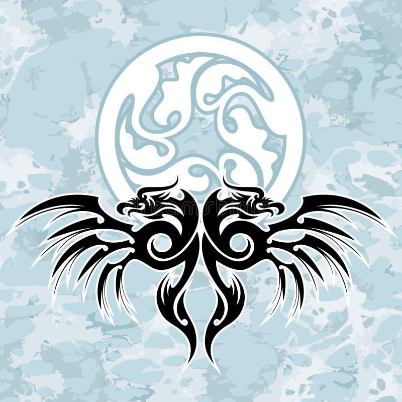 Dragons and circle