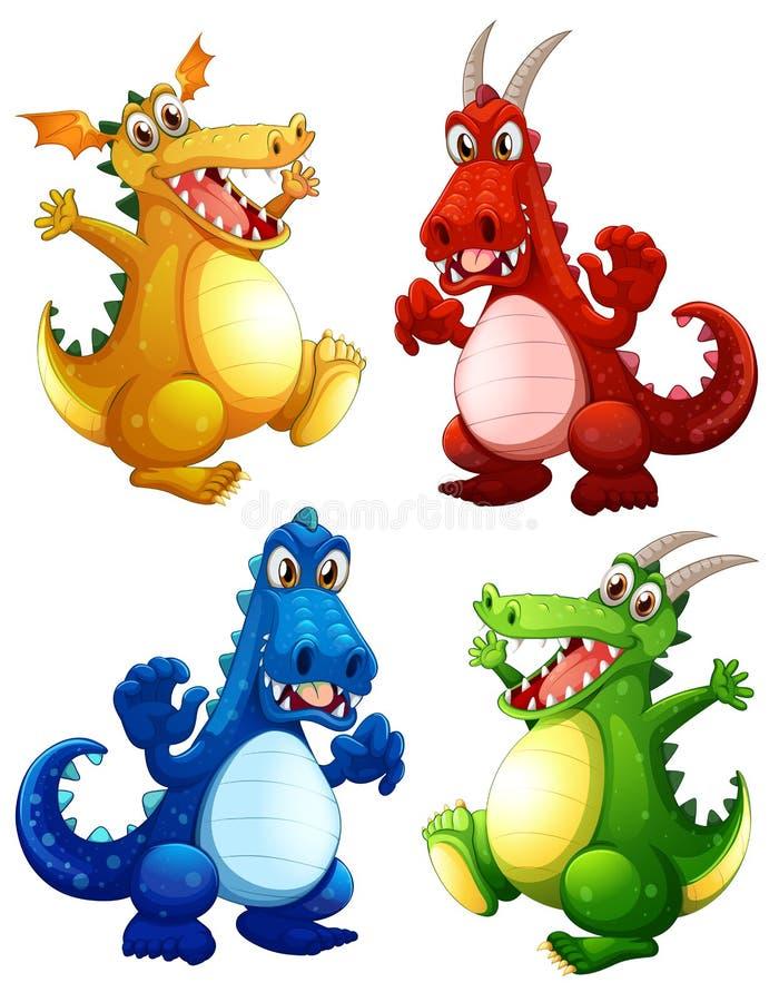 Dragons vector illustration