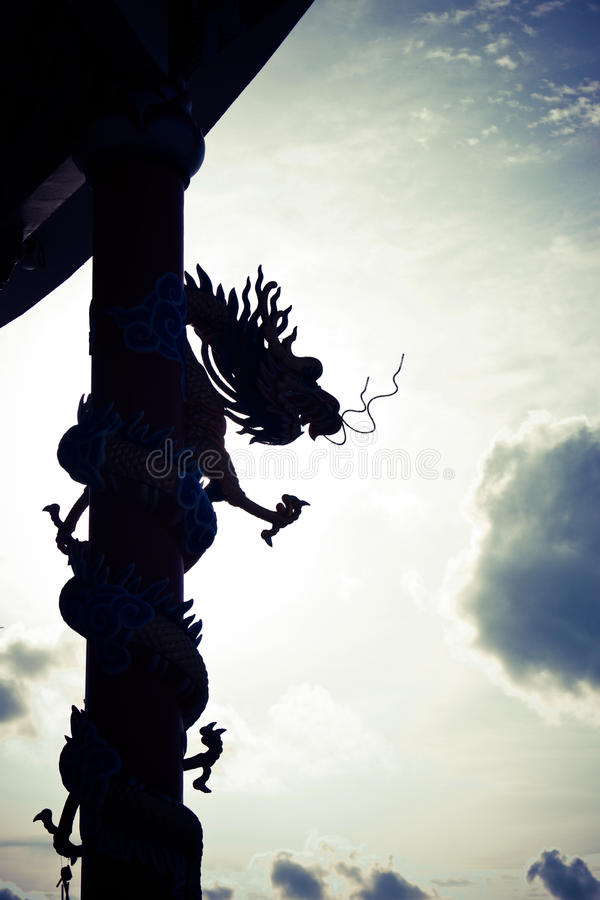 Dragons ruled the skies stock photo
