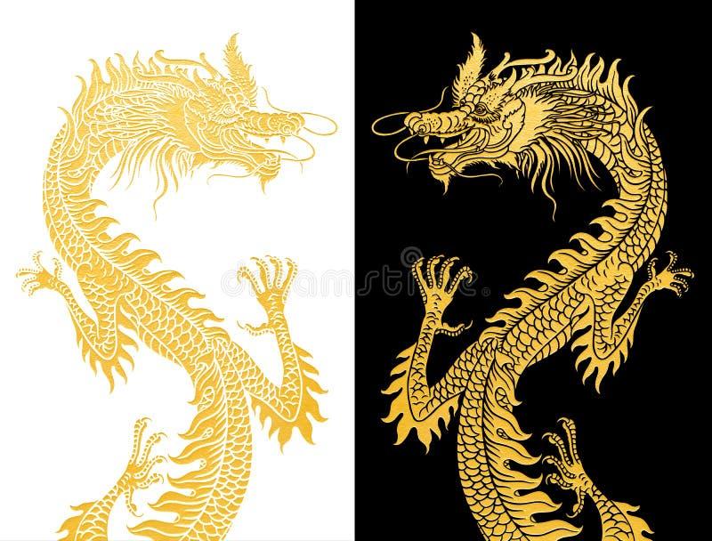 Dragons sur noir et blanc. photographie stock