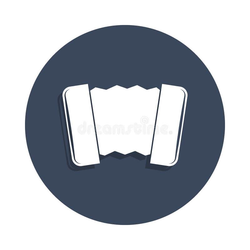 dragspels- symbol i emblemstil En av musiksamlingssymbolen kan användas för UI, UX stock illustrationer