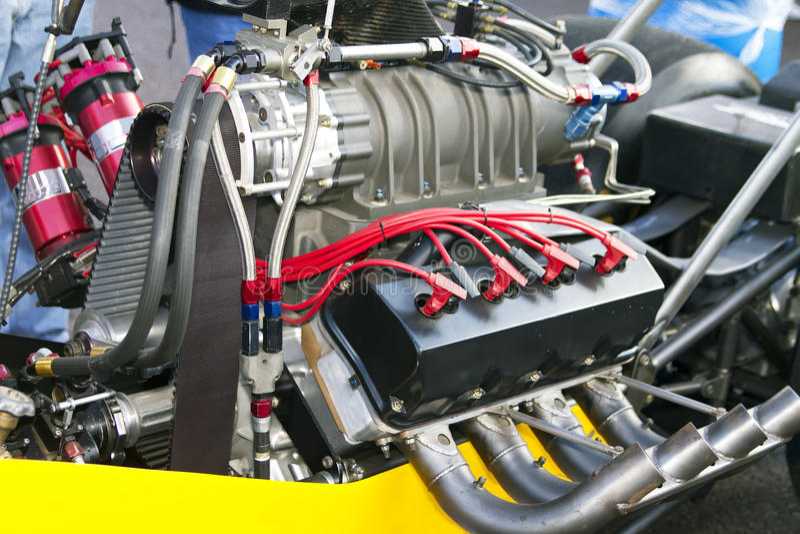 dragster引擎 免版税图库摄影