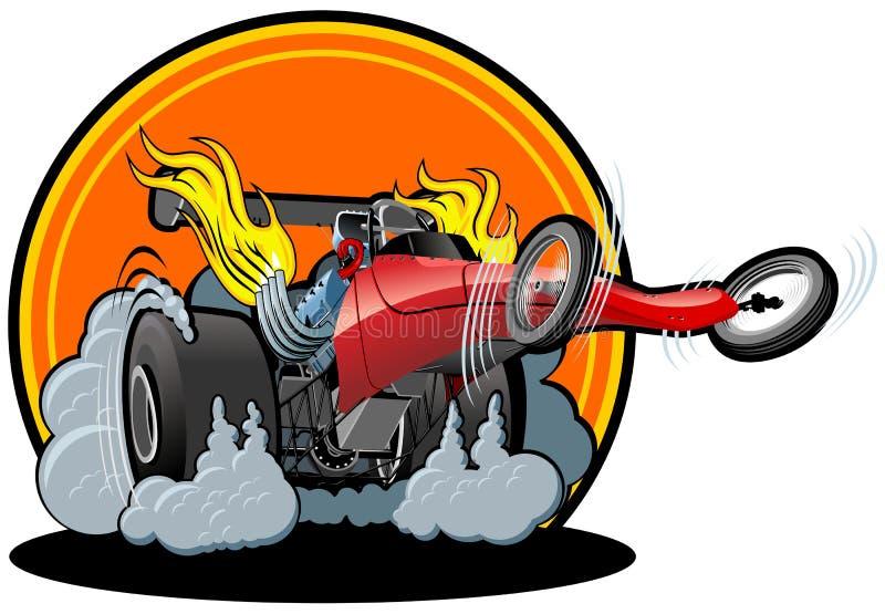 Dragster de dessin animé de vecteur illustration de vecteur