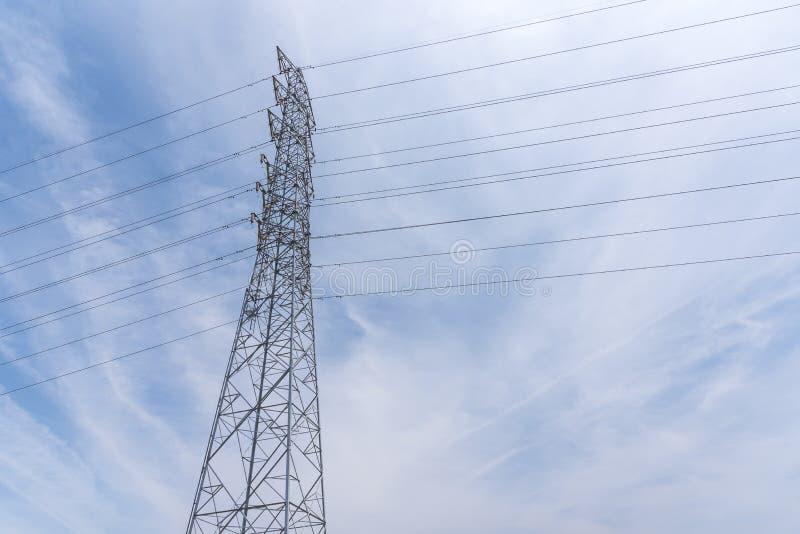 Draht-elektrischer Telekommunikationsbeitrag stockbilder