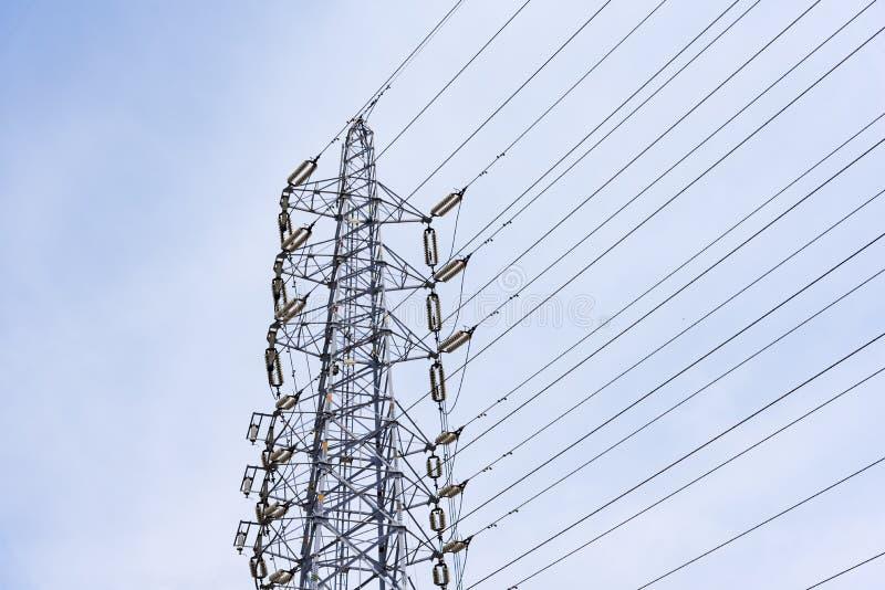 Draht-elektrischer Telekommunikationsbeitrag lizenzfreies stockfoto