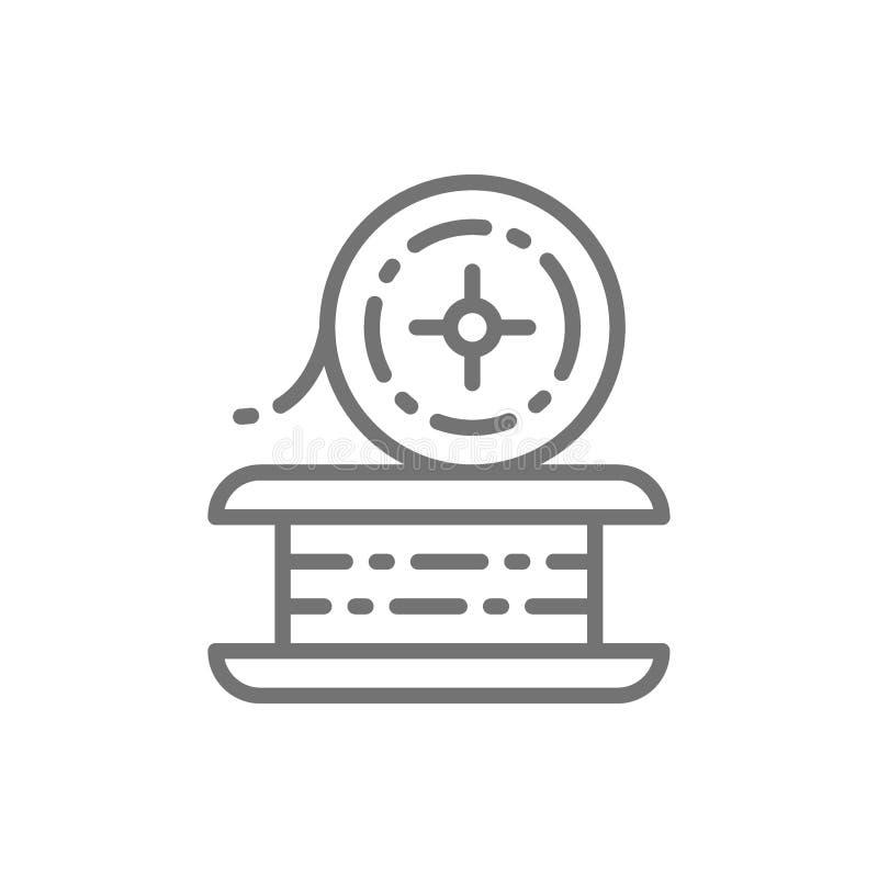 Draht für Schweißarbeit, Metalldrahtlinie Ikone vektor abbildung