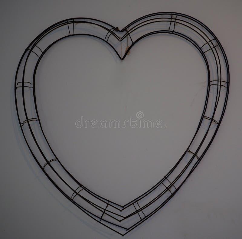 Draht-Herz lizenzfreie stockbilder