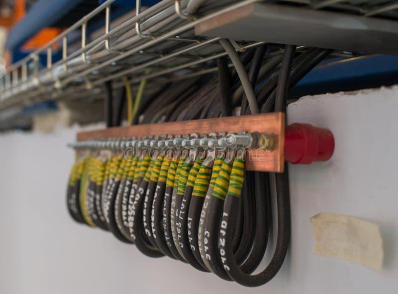 Draht und Anschluss der Erdungsanlage lizenzfreies stockbild