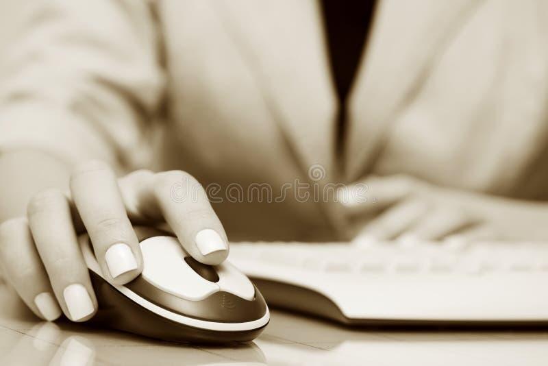Drahtlose Computermaus und -tastatur. stockfotos