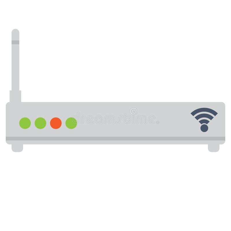 Drahtlose Ethernet-Modemrouter-Vektorillustration vektor abbildung