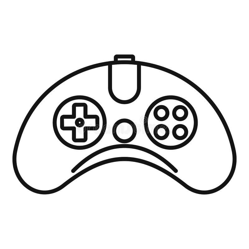 Drahtlose gamepad Ikone, Entwurfsart stock abbildung