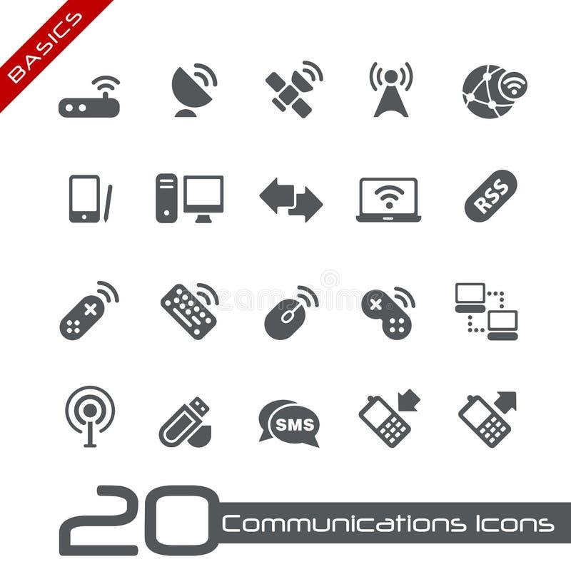Drahtlose Kommunikations-Ikonen-//-Grundlagen lizenzfreie abbildung