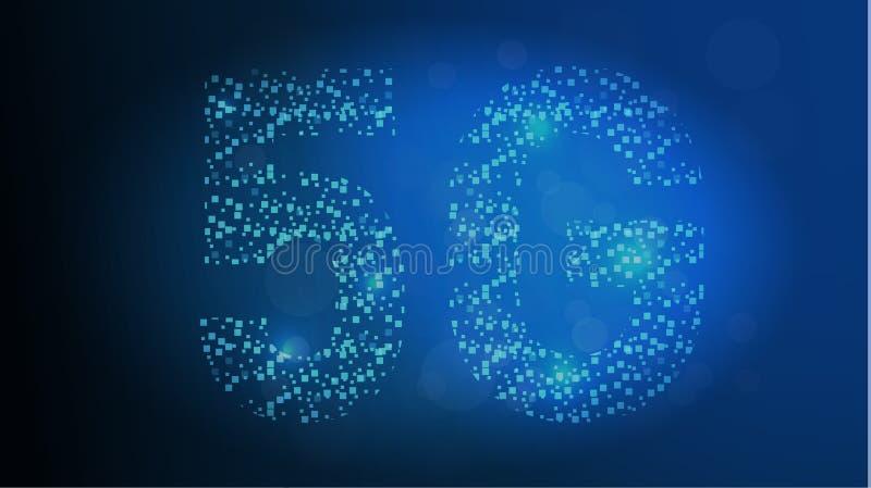 drahtlose Systeme und Internet des Netz-5G alles Gerät-Kommunikationsnetz-Konzept Künstliche Intelligenz und Maschine vektor abbildung