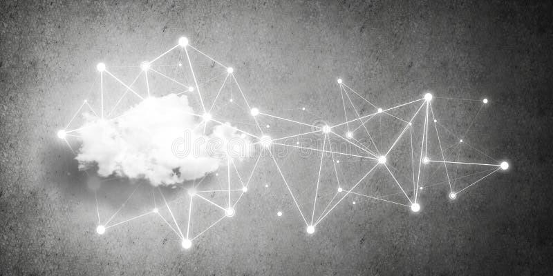 Drahtlose Technologien für Verbindung und Daten als abstrakter Begriff teilen lizenzfreie stockfotografie