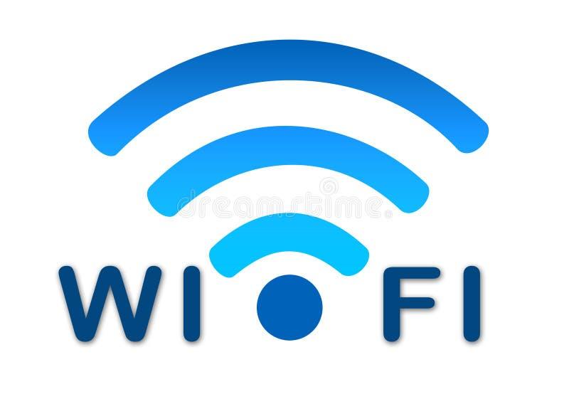 Drahtlose wifi Netz-Blauikone vektor abbildung