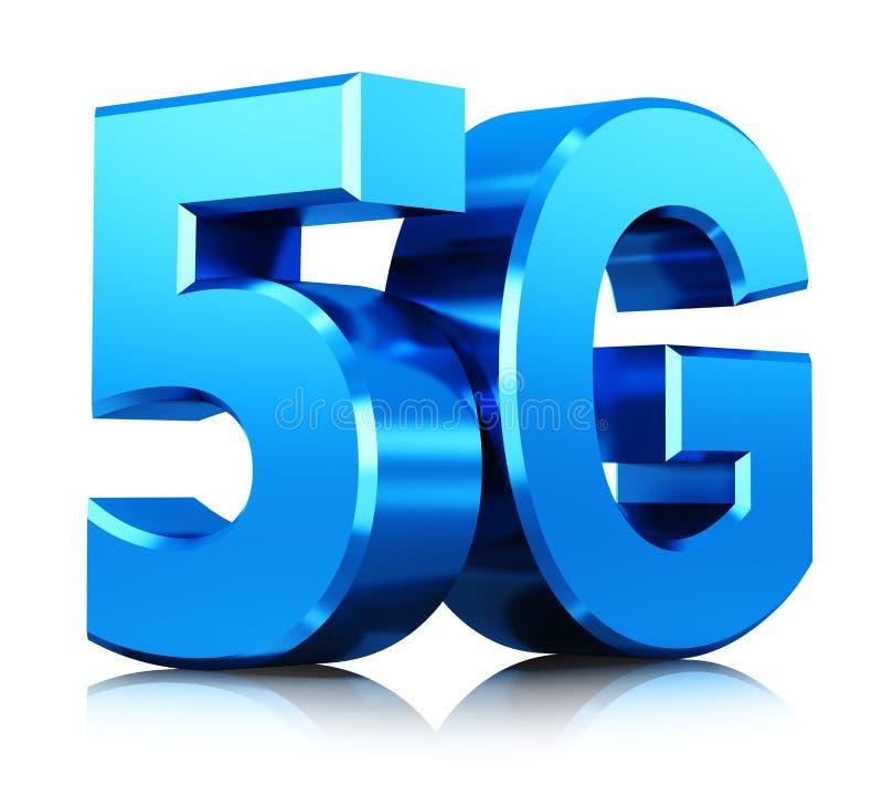 drahtloses 5G Kommunikationstechnologiesymbol lizenzfreie abbildung