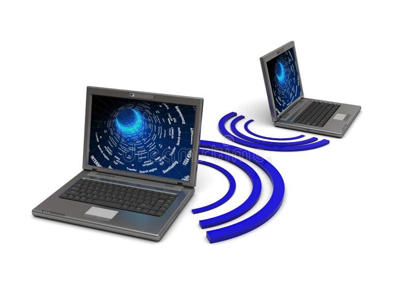 Drahtloses Netzwerk lizenzfreie abbildung